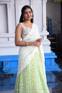 Shivatmika Rajasekhar at Vidhi Vilasam Movie Muhurat