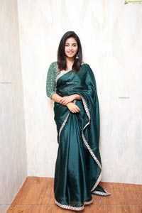 Anjali in Saree at Fortune 99 Homes Branch Office Launch