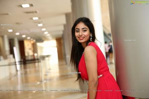 Honey Chowdary in Red Maxi Dress