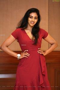 Kamakshi Bhaskarla In Maroon Frill Dress