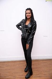 Lucky Lakshmi in Black Leather Jacket