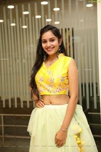 Priyancee Agarwal in Pastel Green Ruffle Lehenga