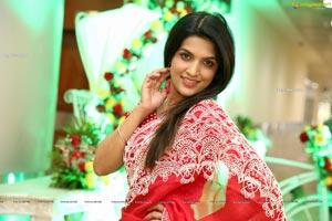 Ritu Biradar in Red Embellished Saree