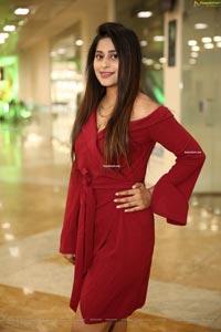 Shravani Varma in Maroon Off Shoulder Dress