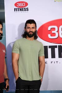 Vijay Deverakonda at 360 Degrees Fitness Website Launch
