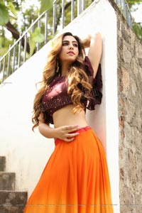 Harshita Panwar in Orange Embellished Lehenga Choli