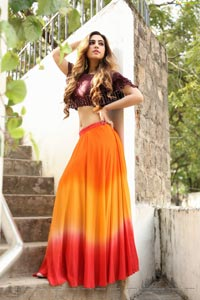Harshita Panwar in Orange Embellished Lehenga Choli