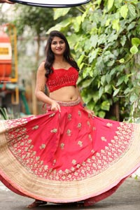 Kirthana Shiny in Dark Pink Embellished Lehenga