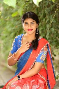 Kirthana Shiny in Blue Lehenga Choli Exclusive