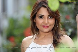 Nisha Singh Rajput in Black Package Hip Mini Skirt