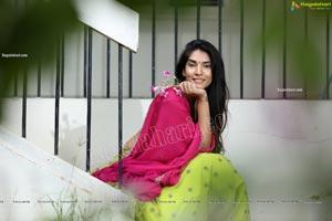 Supraja Narayan in Parrot Green Lehenga Choli