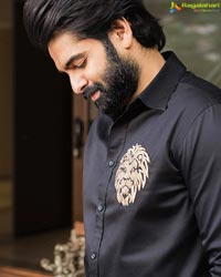 Ram Pothineni Stylish Formal Look in All Black Outfit