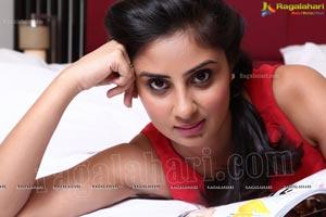 Bhanusri Mehra in Red Sleeveless Dress Photos