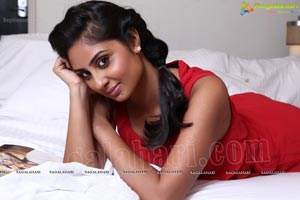 Bhanusri Mehra in Red Sleeveless Dress Photos