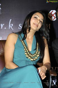Bhumila Chawla in Low Neck Dress