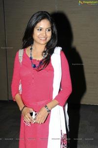 Singer Sunitha in Pink Dress
