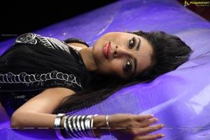 Shriya Sensuous Expressions in Black Saree