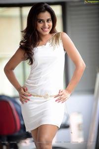Beautiful Dimple Chopage in White Dress