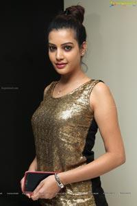 Diksha Panth in Golden Dress
