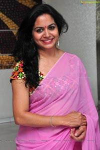 Singer Sunitha in Saree