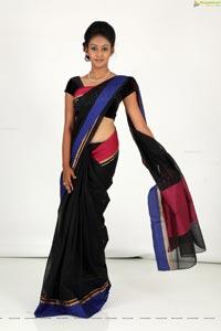 Hamsitha Black Saree
