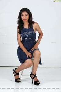 Swetha Mathi in Blue Mini Dress