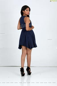 Swetha Mathi in Blue Mini Dress