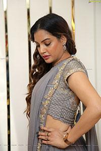 Diksha Panth in Gray Designer Lehenga