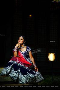 Mamatha Rahuth in Blue and Pink Lehenga Choli
