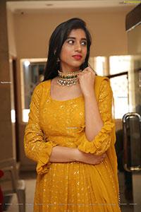 Naziya Khan in Yellow Ornate Dress