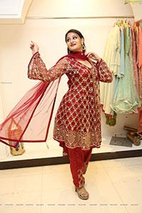 Nilofer Haidry in Red Churidar