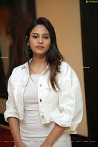 Pavani Bhimeneni Stunning Stills in All-White Outfit
