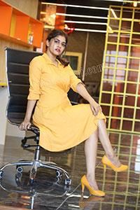 Sanjana Anand Latest Stills in Yellow Dress