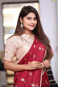 Shravani Varma in Red Saree