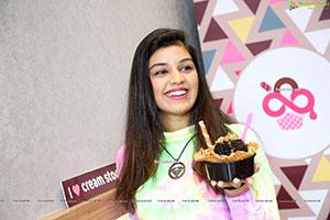 Shruthi Sharma Poses With an Ice Cream