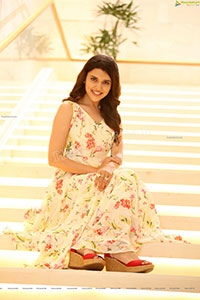 Chitra Shukla in White Floral Dress Exclusive Shoot