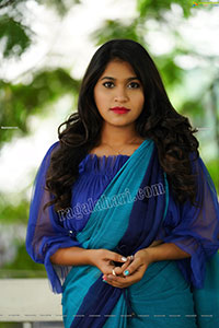Honey Royal in Royal Blue Saree