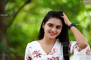 Jashvika in White Floral Dress Exclusive Photoshoot