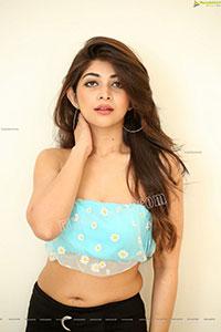 Srijita Gosha in Aqua-Blue Crop Top, Exclusive
