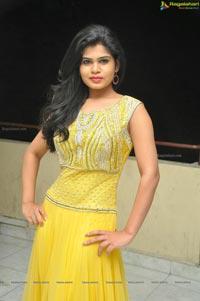 Heroine Alekhya in Yellow Dress