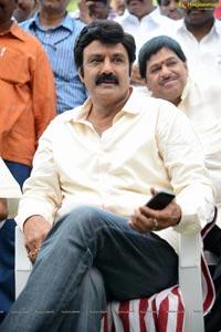 Nandamuri Balakrishna at SLV Cinema, Satyadeva film Muhurat