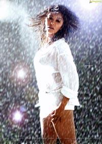 Harika Payal Ghosh in a White Dress