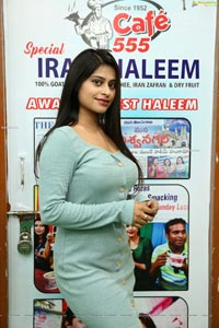 Shravani Varma at Famous Haleem Maker of Hyderabad, Cafe 555