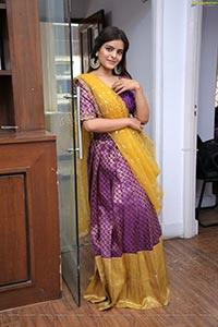 Kusumm in Purple Designer Lehenga