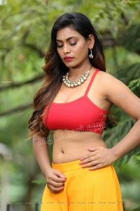 Priyanka Augustin in Yellow Divided Skirt