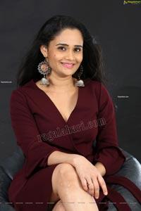 Usha Kurapati in Burgundy Mini Dress