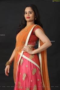 Usha Kurapati in Pink Embellished Lehenga Choli