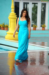 Bhumika in Long Blue Gown