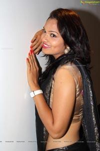 Ashwini in Black Saree