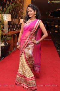 Maheshwari in Pink Half Saree